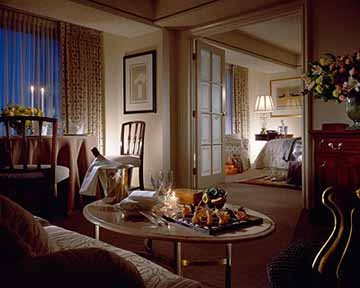 Suite at the Four Seasons Hotel in Vancouver